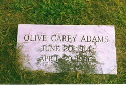 Olive <i>Carey</i> Adams