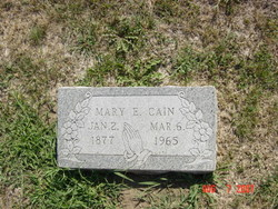 Mary Elizabeth <i>Goldsberry</i> Cain