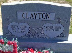 Betty J <i>Walton</i> Clayton
