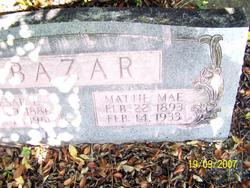 Mattie Mae <i>Caraway</i> Bazar