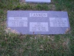 Catherine Jane <i>Lynch</i> Cannon