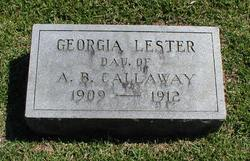 Georgia <i>Lester</i> Callaway