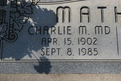 Dr Charles Milford Charlie Mathias