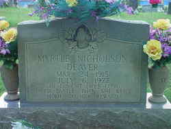 Myrtle <i>Nicholson</i> Deaver