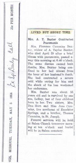 Florence Bernhard <i>Cummings</i> Baxter