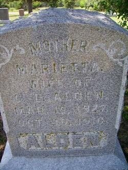 Marietta Mary <i>Bump</i> Alden