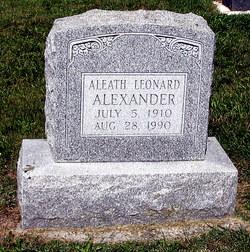 Aleath <i>Leonard</i> Alexander