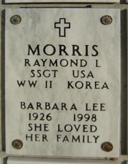 Barbara Lee <i>Herbold</i> Morris