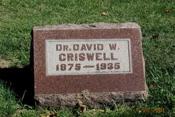 Dr David Wilson Criswell