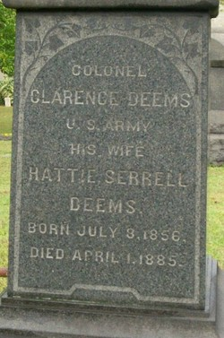 Harriette (Hattie) Marshall <i>Serrell</i> Deems