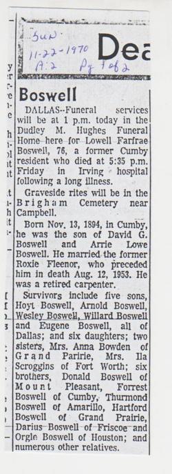 Lowell Farfrae Boswell