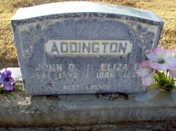 Eliza F. <i>Earp</i> Addington