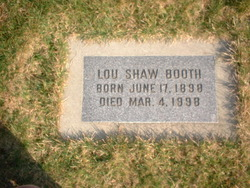 Lou Shaw Booth