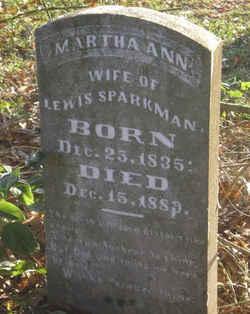 Martha Ann <i>Denton Roberts</i> Sparkman