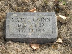 Mary J. <i>Baker</i> Gwinn