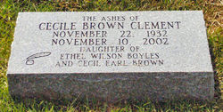 Cecile <i>Brown</i> Clement
