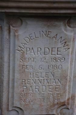 Helen <i>Penniman</i> Pardee
