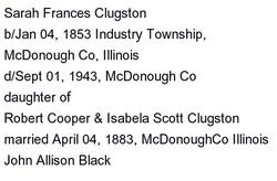 Sarah Frances <i>Clugston</i> Black