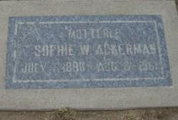 Sophie W Ackerman