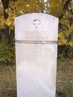 Pvt Barney Emil Benson