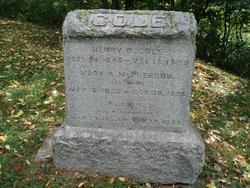Mary A. <i>McPherson</i> Cole
