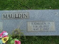 Kathleen <i>H</i> Mauldin
