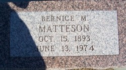 Bernice M <i>Coleman</i> Matteson