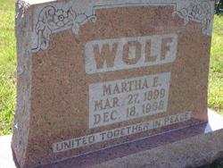 Martha E Wolf