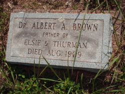 Dr Albert A Brown