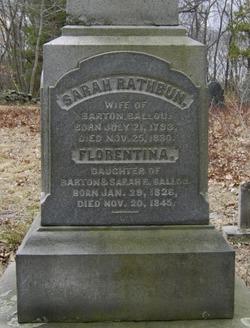 Sarah S. <i>Rathbun</i> Ballou