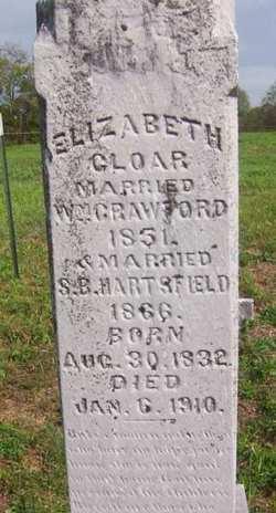 Elizabeth <i>Cloar</i> Crawford/Hartsfield