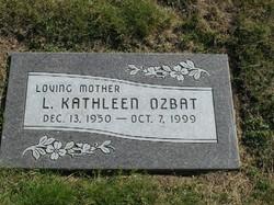 Luella Kathleen Kathy <i>Fischer</i> Ozbat