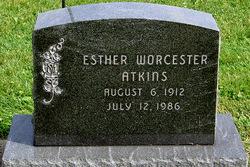 Esther Faye <i>Worcester</i> Atkins