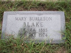 Mary <i>Burleson</i> Blake