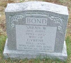 Sarah W <i>Davis</i> Bond