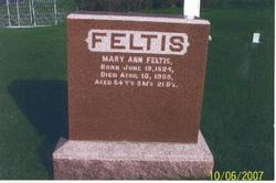 Mary Margaret Ann <i>McCarl</i> Feltis