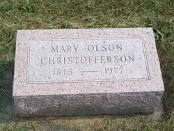 Mary <i>Olson</i> Christofferson