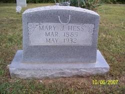 Mary J <i>Justus</i> Hess