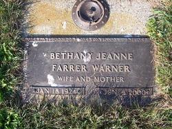 Bethany Jeanne <i>Moss</i> Farrer Warner