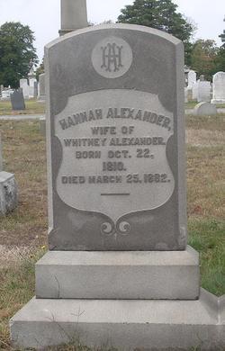 Hannah <i>Sherman</i> Alexander