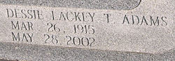 Dessie Thornburg <i>Lackey</i> Adams