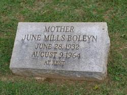 June <i>Mills</i> Boleyn