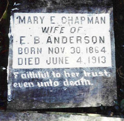 Mary E. <i>Chapman</i> Anderson
