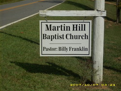 Martin Hill Baptist Church Cemetery