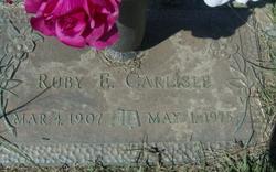 Ruby E. <i>Purser</i> Carlisle