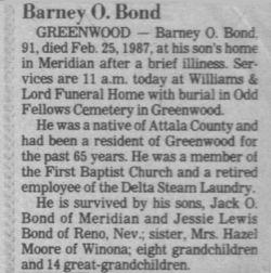 Barney O'Neal Bond