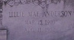 Lillie Mae <i>Anderson</i> Fields