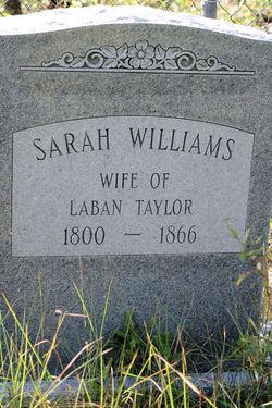Sarah <i>Williams</i> Taylor
