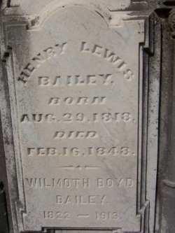 Wilmoth <i>Boyd</i> Bailey