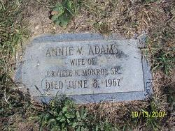 Annie V. <i>Adams</i> Monroe